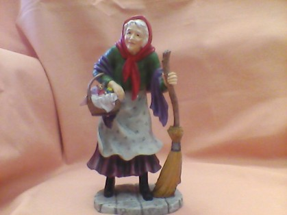 Just in today and a must for Christmas gift giving...This lovely Befana Figurine will become a family treasure...a must for your Italian Christmas!